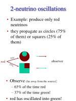 2 neutrino oscillations