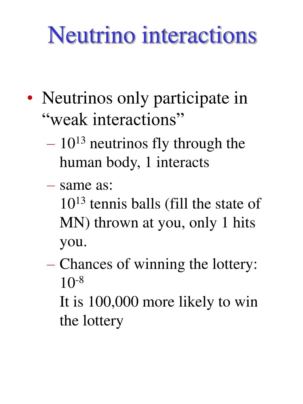 Neutrino interactions