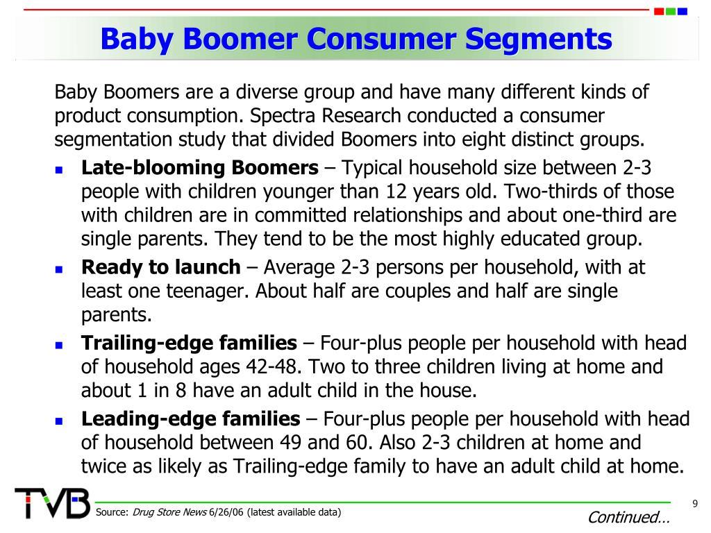 Baby Boomer Consumer Segments