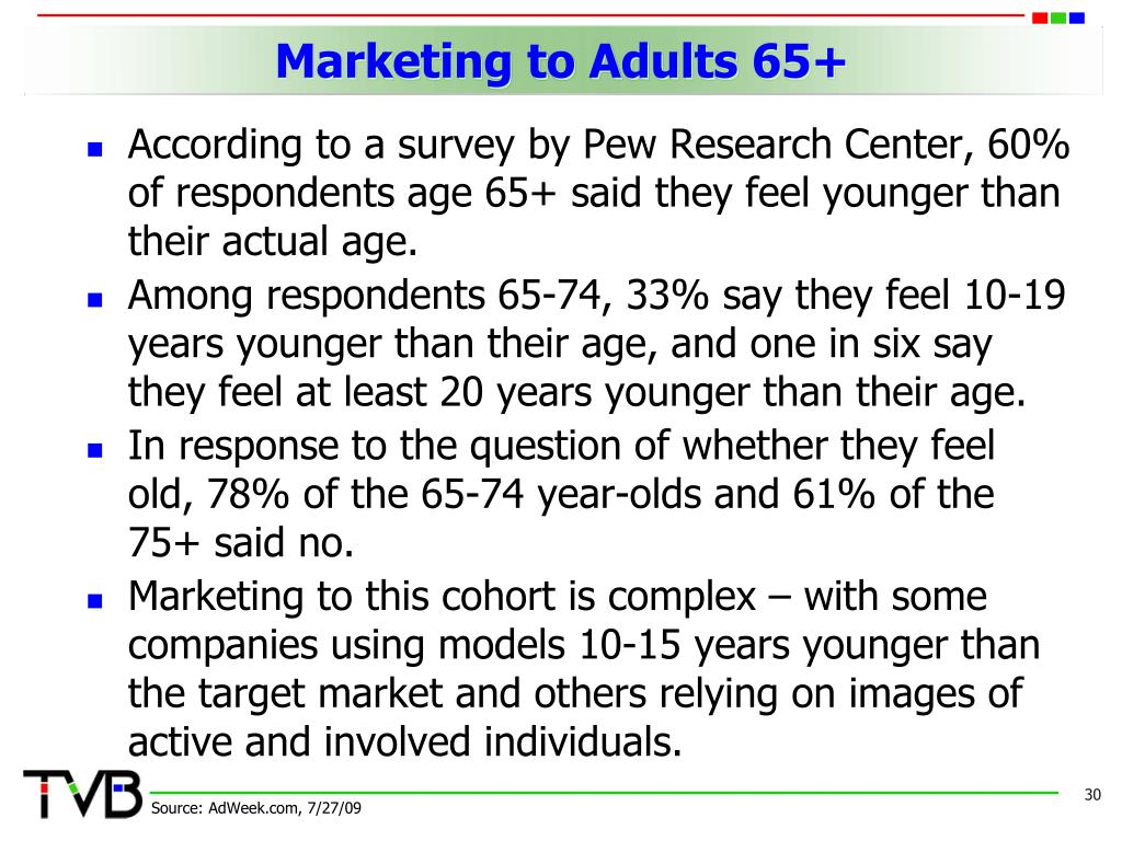 Marketing to Adults 65+