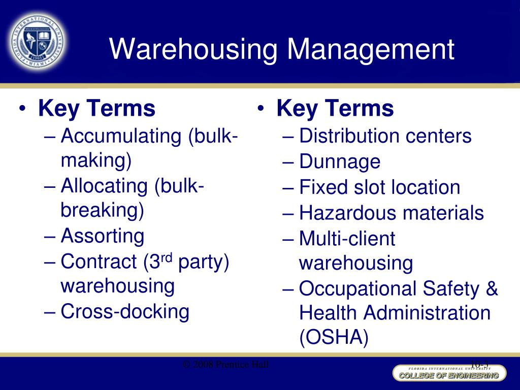warehousing management The association for distribution and warehousing management is a professional association of distribution and warehouse supervisors, managers and others in the distribution and warehousing industry.