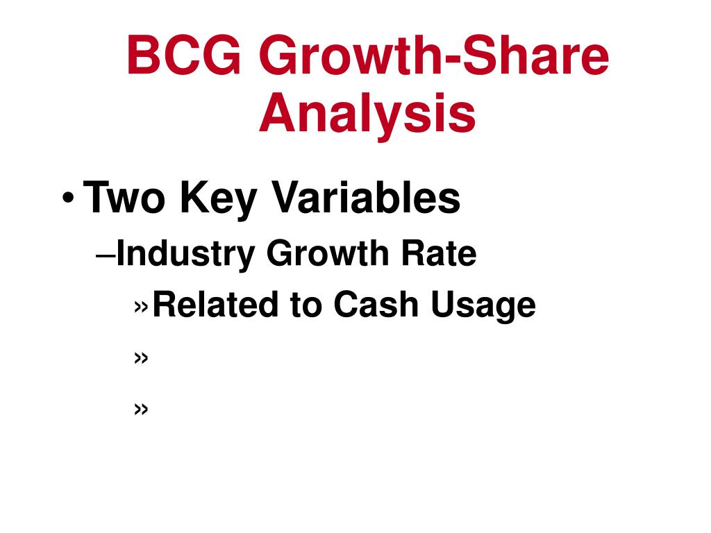 BCG Growth-Share Analysis