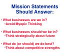 mission statements should answer
