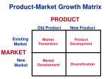 product market growth matrix