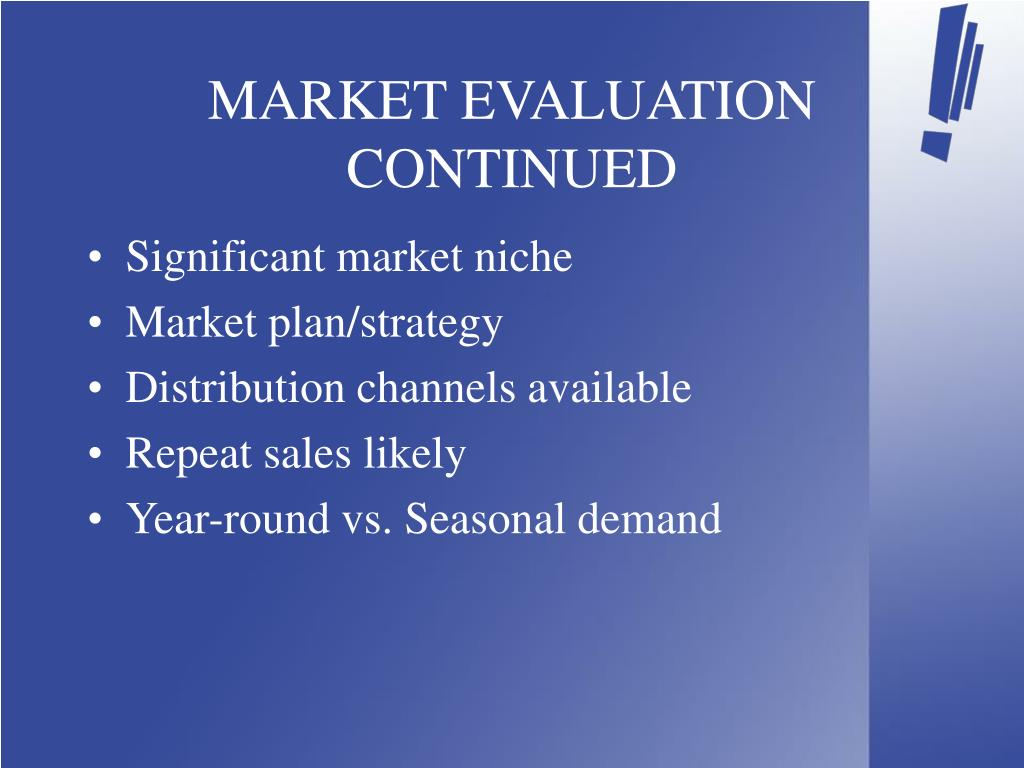 MARKET EVALUATION CONTINUED