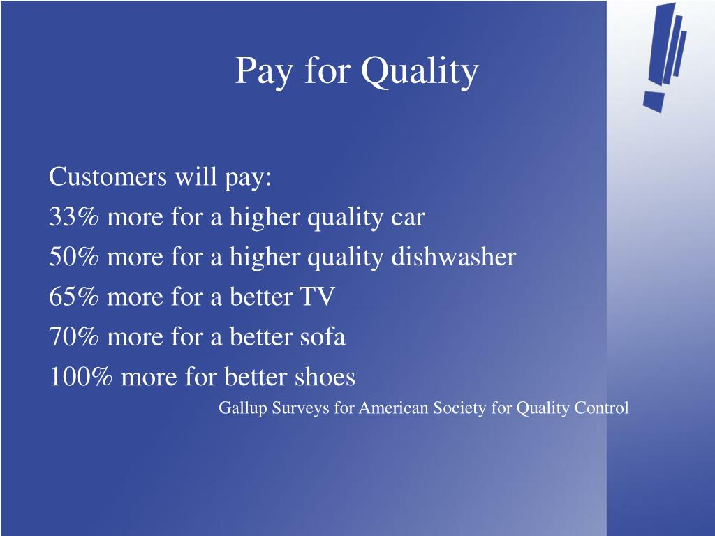 Pay for Quality