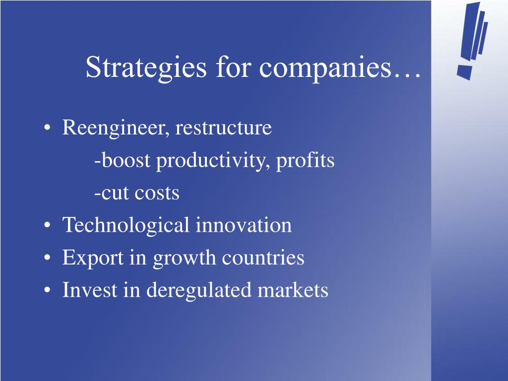 Strategies for companies…