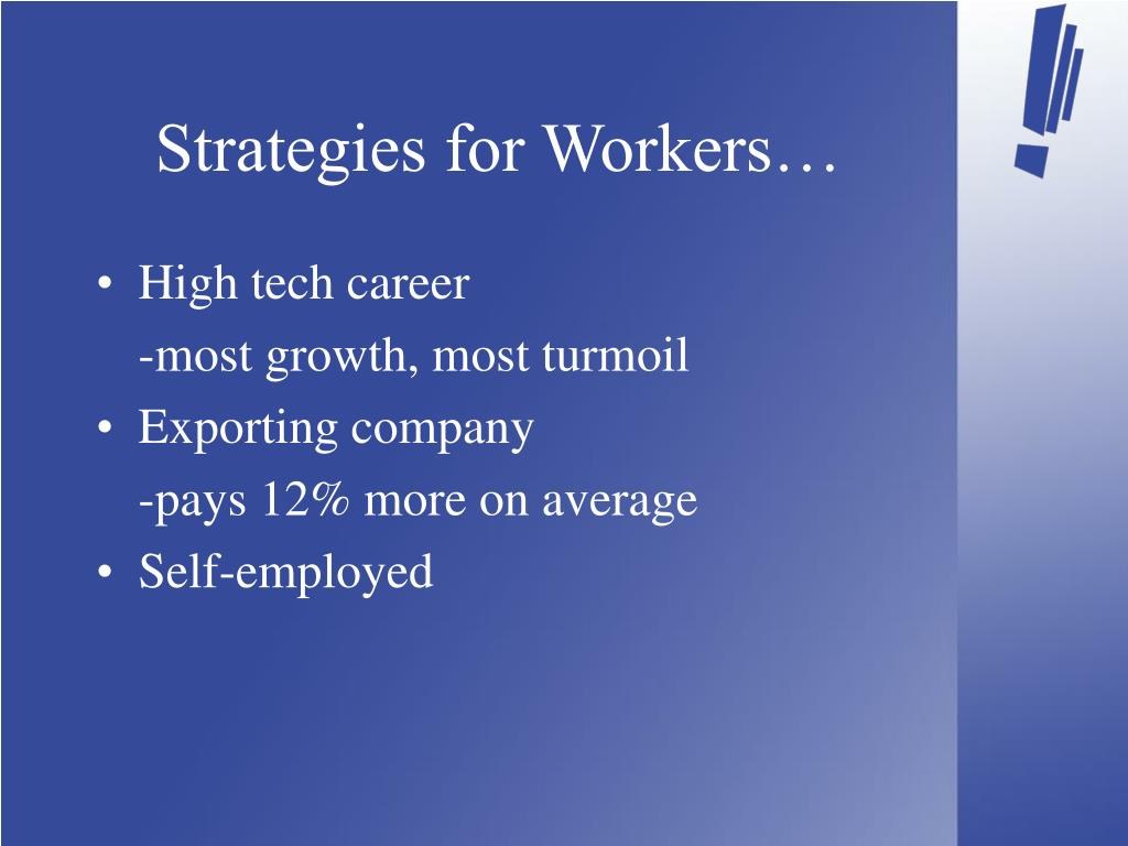 Strategies for Workers…