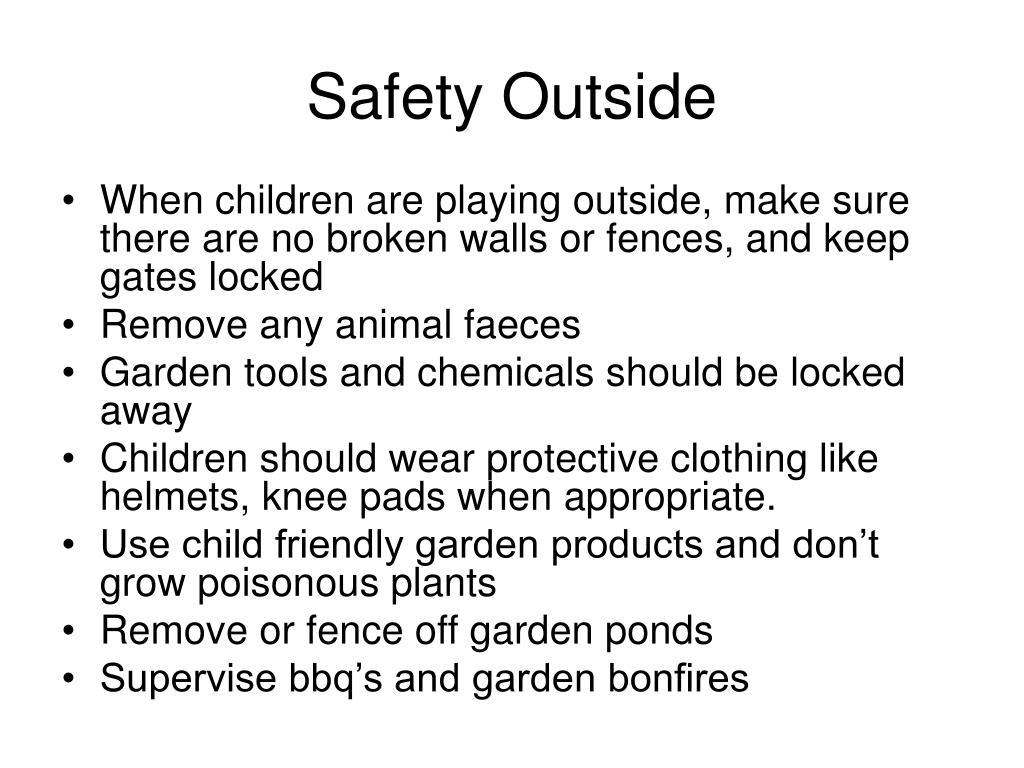 Safety Outside
