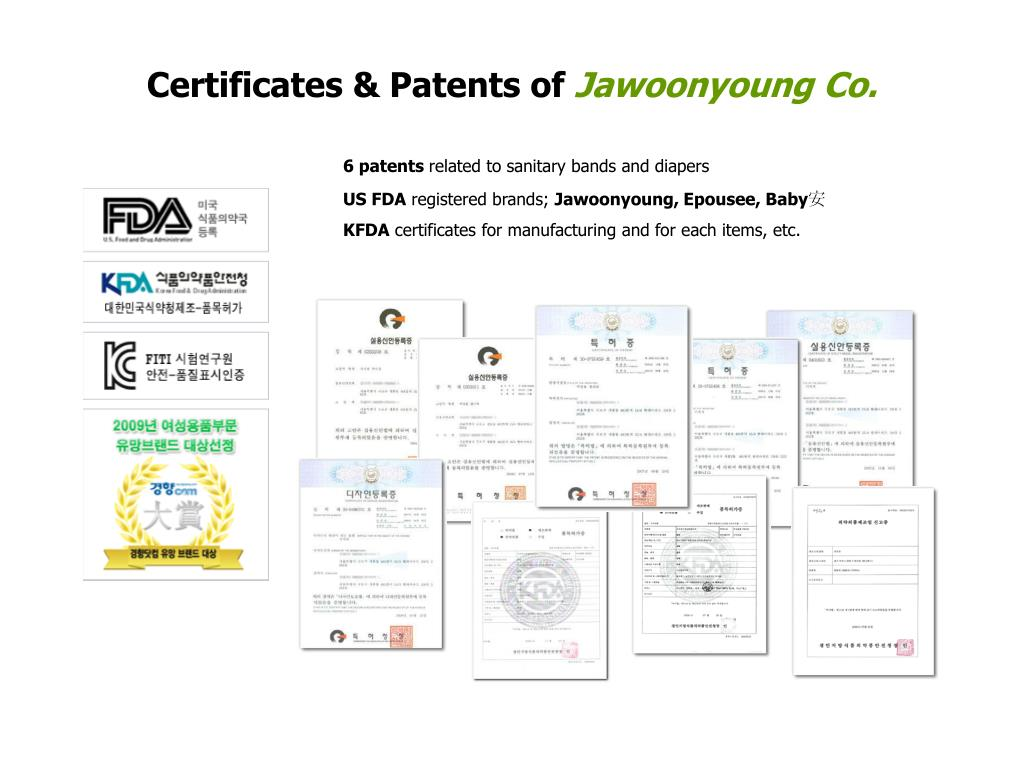 Certificates & Patents of
