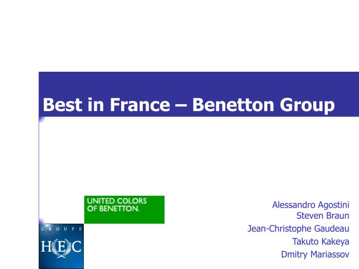 Best in france benetton group