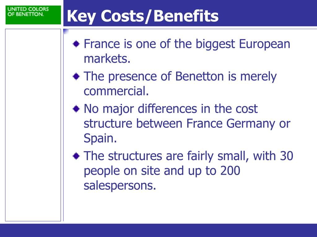 Key Costs/Benefits