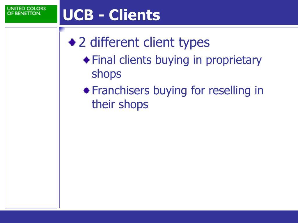 UCB - Clients