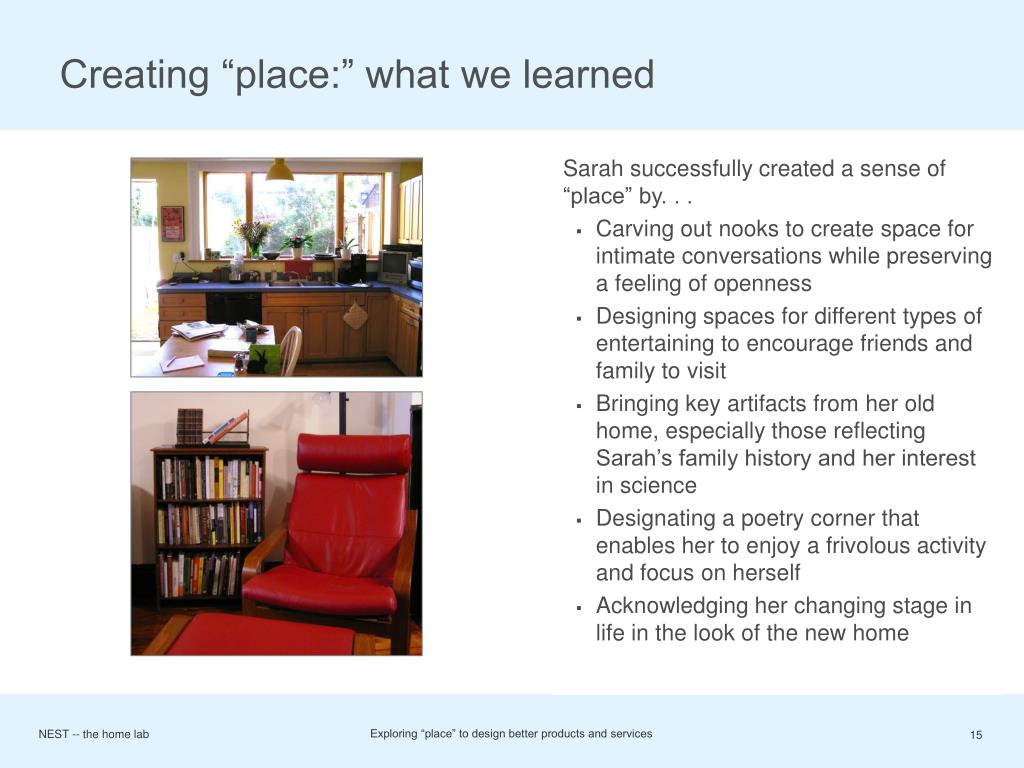 "Creating ""place:"" what we learned"