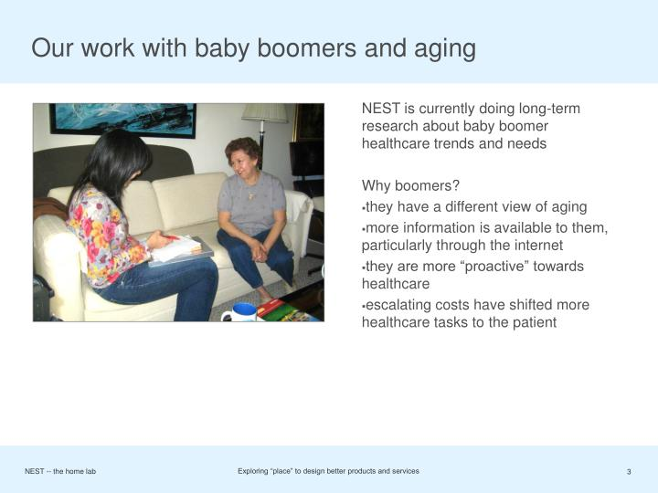 Our work with baby boomers and aging
