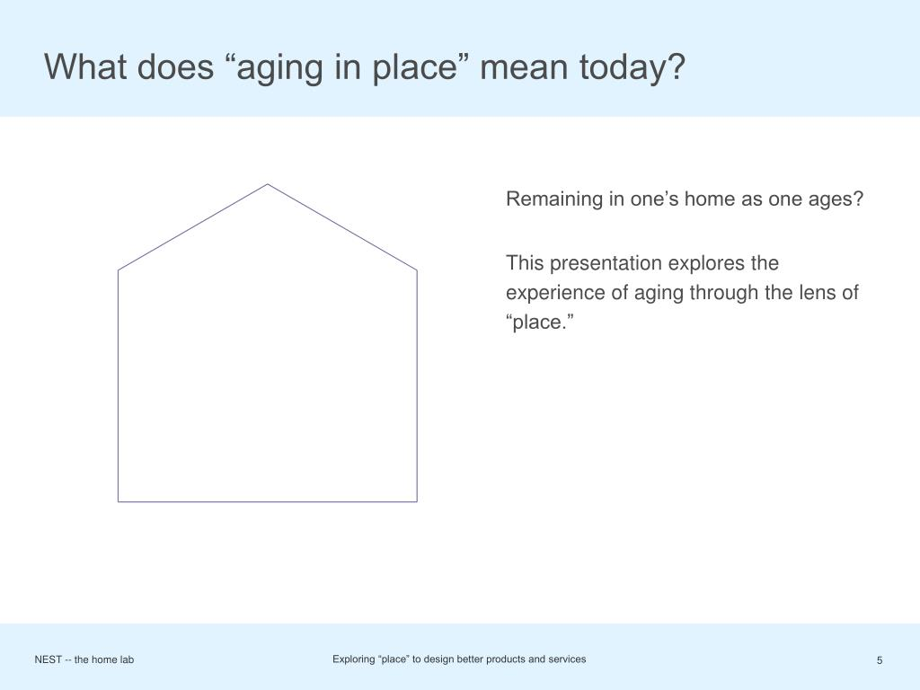 "What does ""aging in place"" mean today?"