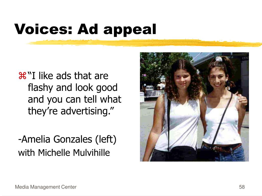 Voices: Ad appeal