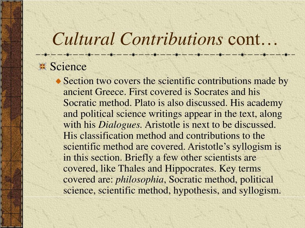 Cultural Contributions