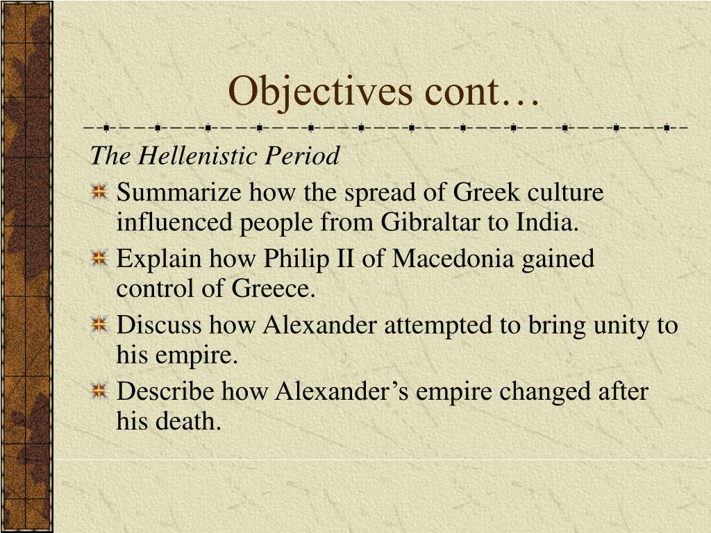 Objectives cont…