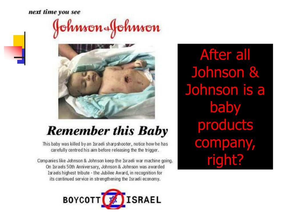 After all Johnson & Johnson is a baby products company, right?