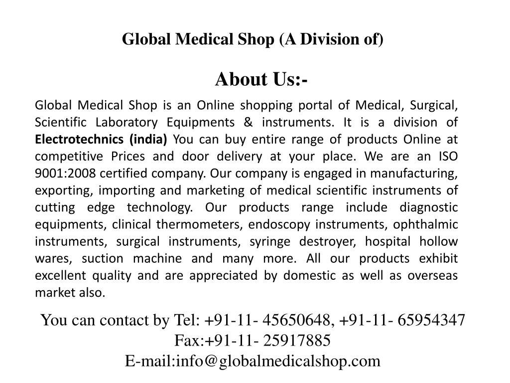 Global Medical Shop (A Division of)