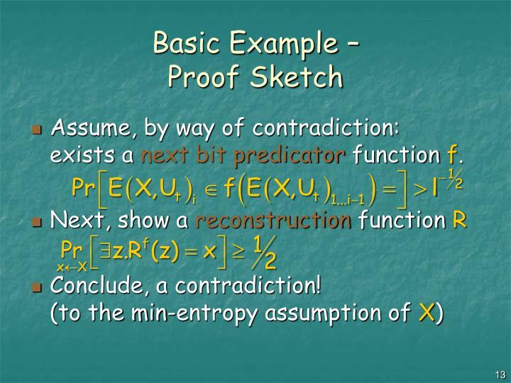 Basic Example –