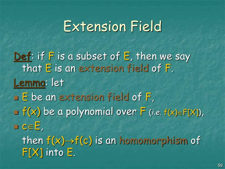 Extension Field