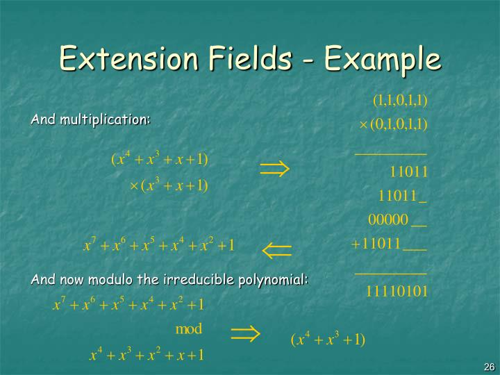 Extension Fields - Example