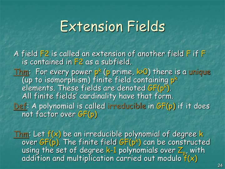 Extension Fields