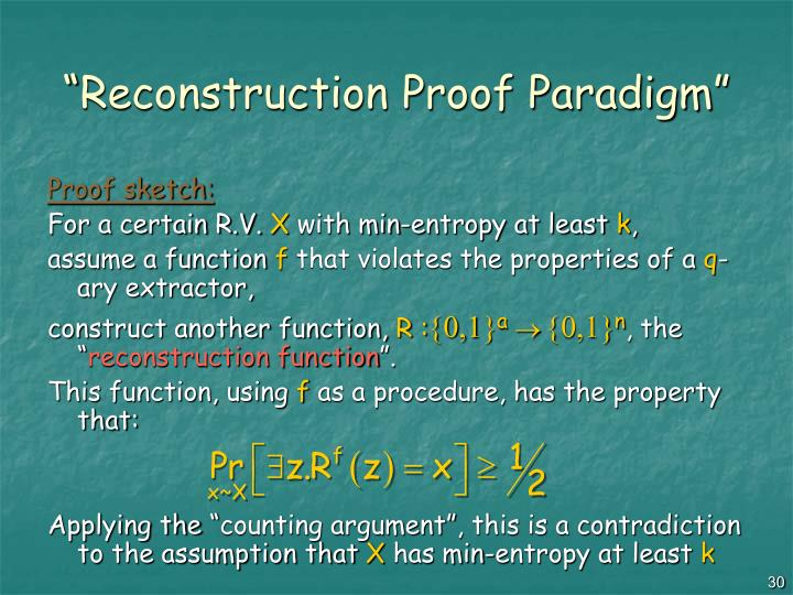 """Reconstruction Proof Paradigm"""