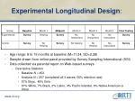 experimental longitudinal design