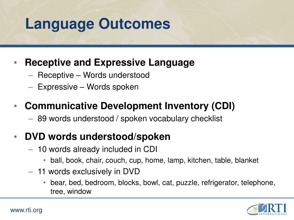 Language Outcomes