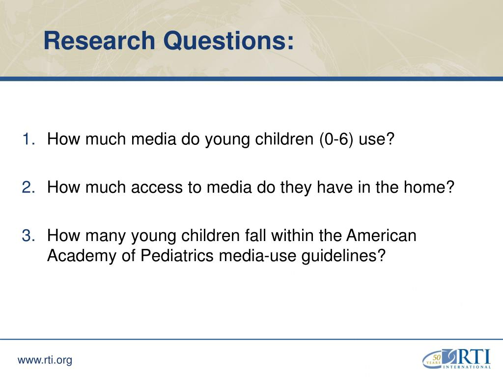 Research Questions: