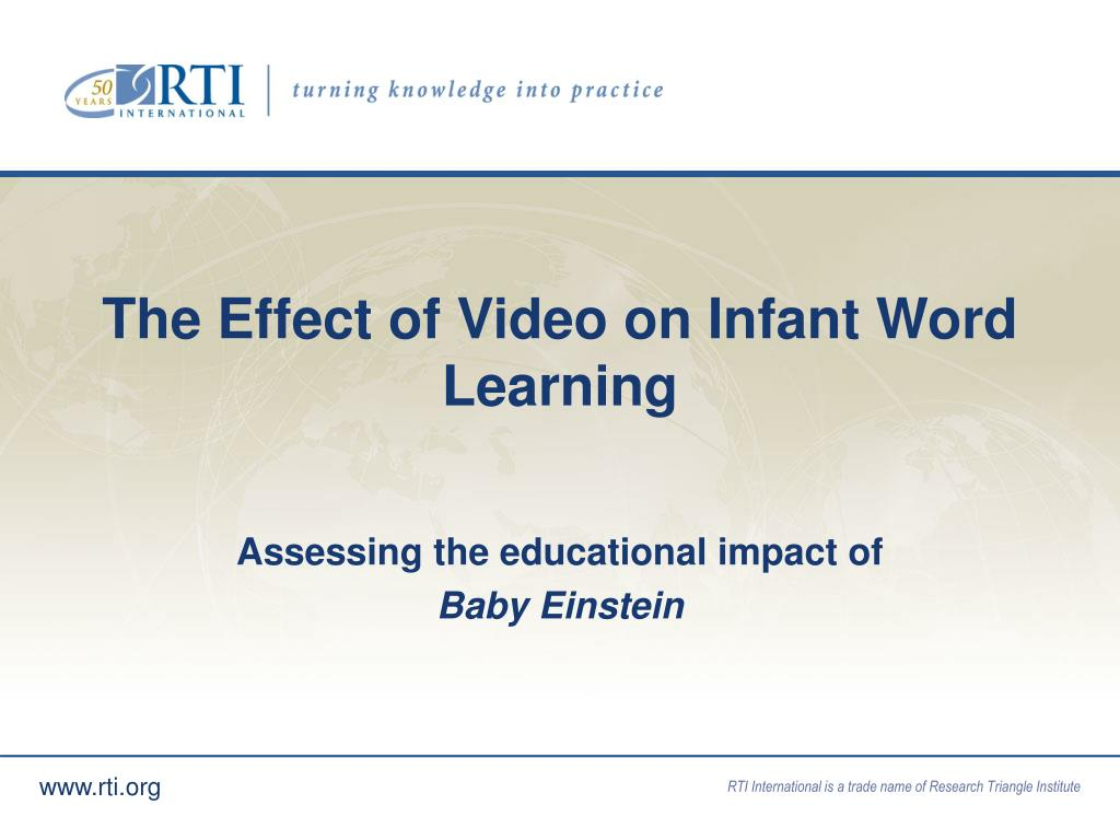 The Effect of Video on Infant Word Learning