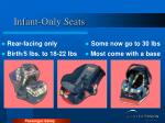 infant only seats