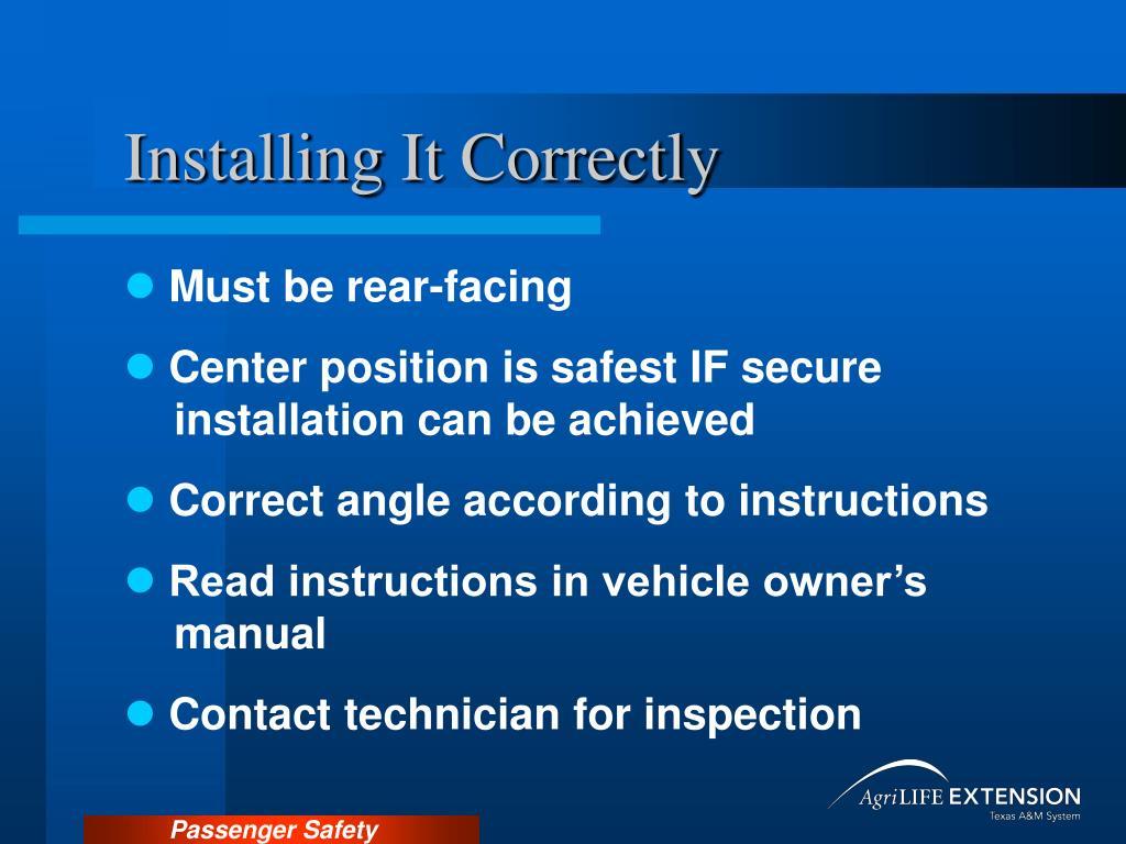Installing It Correctly