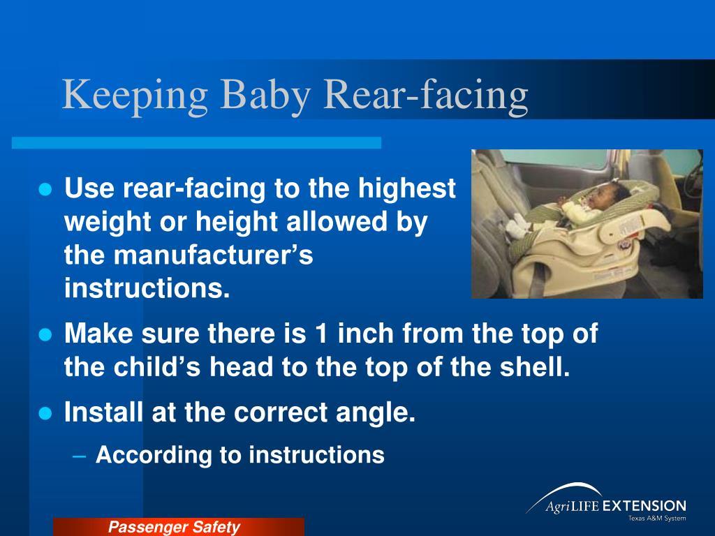 Keeping Baby Rear-facing