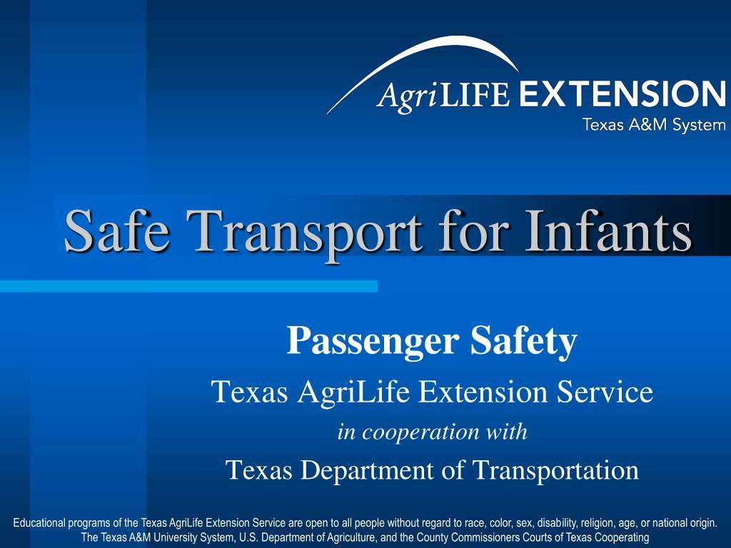 safe transport for infants