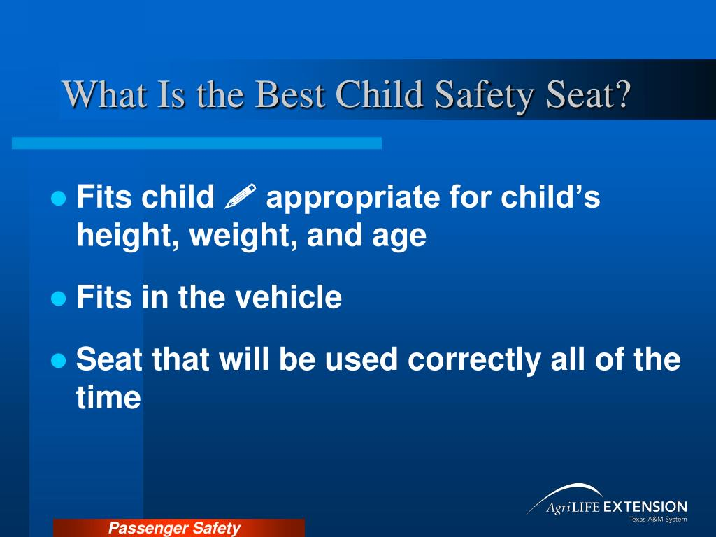 What Is the Best Child Safety Seat?