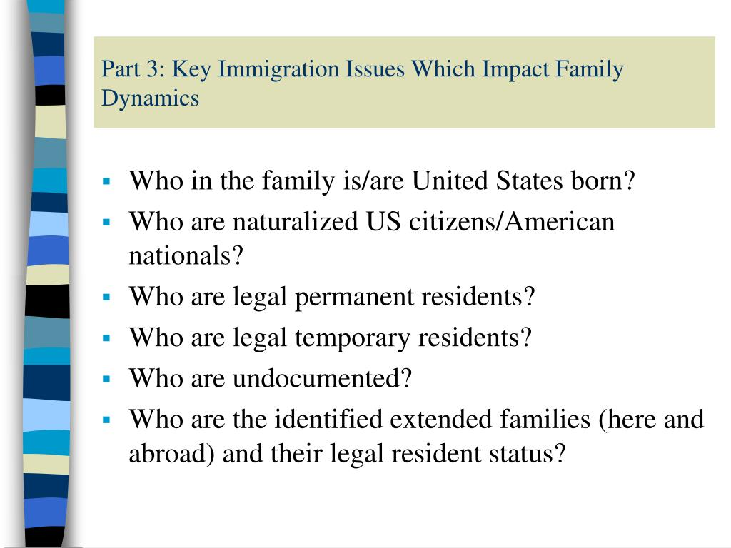 Part 3: Key Immigration Issues Which Impact Family Dynamics