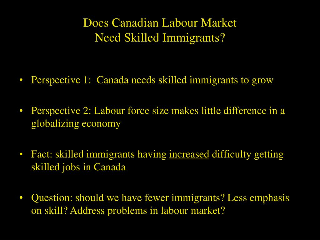 Does Canadian Labour Market