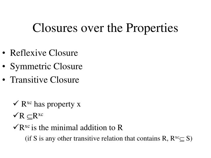 Closures over the Properties