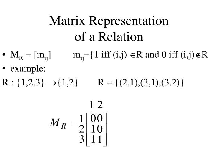 Matrix Representation