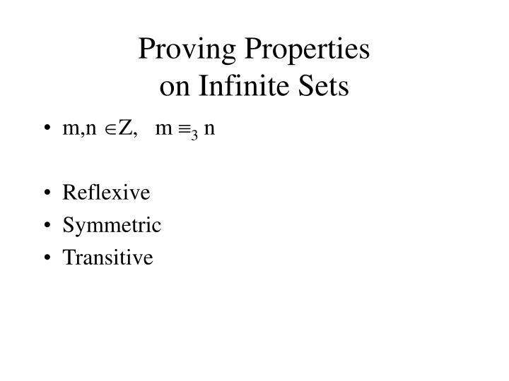 Proving Properties