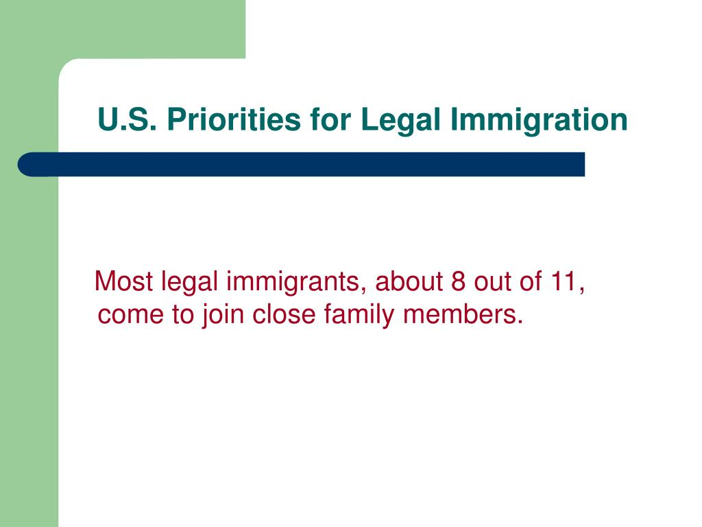 U.S. Priorities for Legal Immigration