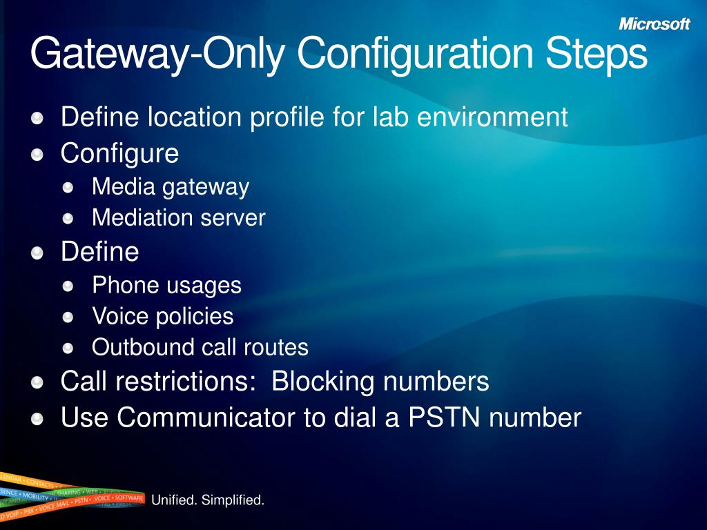 Gateway-Only Configuration Steps