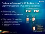 software powered voip architecture deployment scenario ocs 2007 co existence