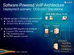 software powered voip architecture deployment scenario ocs 2007 standalone