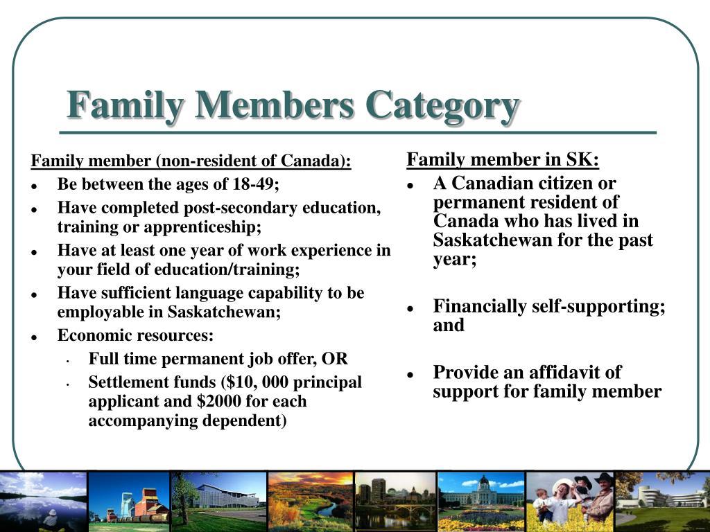 Family member (non-resident of Canada):