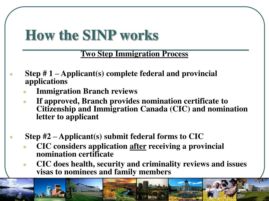 How the SINP works